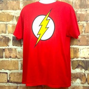 Men's DC Flash Logo Red T-Shirt Size Large